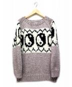 Black Weirdos(ブラック ウィドゥ)の古着「Yin Yang Knit」 ベージュ