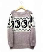 Black Weirdos(ブラック ウィドゥ)の古着「Yin Yang Knit」|ベージュ
