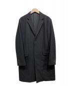 LAD MUSICIAN(ラッドミュージシャン)の古着「MIDDLE MELTON SINGLE COAT」|ブラック
