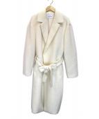 Spick and Span(スピックアンドスパン)の古着「モヘアシャギーW前コート」|ホワイト