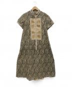 HIROKO KOSHINO(ヒロコ コシノ)の古着「サイドスリットワンピース」|ベージュ