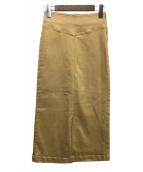 Plage(プラージュ)の古着「Stretchタイトミディスカート」|ベージュ