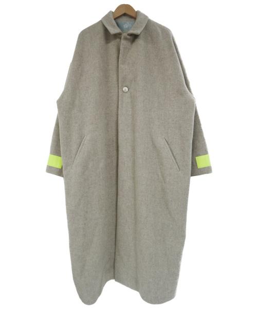 Dulcamara(ドゥルカマラ)Dulcamara (ドゥルカマラ) モッサーリフレクタービッグコート ベージュ サイズ:2の古着・服飾アイテム