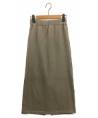 ()の古着「Sweatスカート」 カーキ