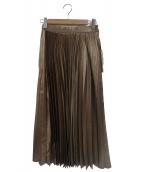 GRACE CLASS(グレースクラス)の古着「箔プリーツスカート」|ブラウン