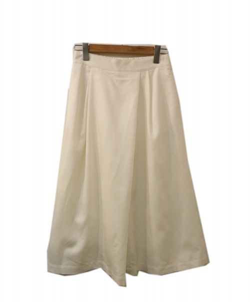BALLSEY(ボールジィー)BALLSEY (ボールジィー) シャンブレーツイルクロップドフレアパンツ ホワイト サイズ:SIZE 36の古着・服飾アイテム
