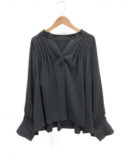 ADORE(アドーア)ADORE (アドーア) ドライジョーゼットブラウス ブラック サイズ:38の古着・服飾アイテム