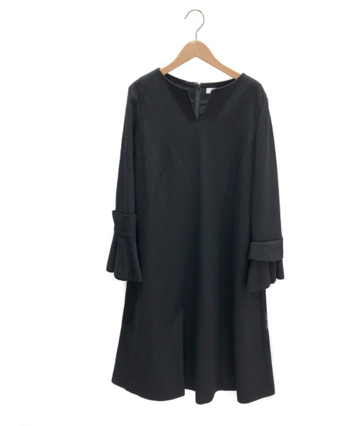 ADORE(アドーア)ADORE (アドーア) ウールスムースAラインワンピース ブラック サイズ:38 未使用品の古着・服飾アイテム