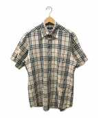 BURBERRY LONDON(バーバリーロンドン)の古着「半袖ノヴァチェックシャツ」|ベージュ