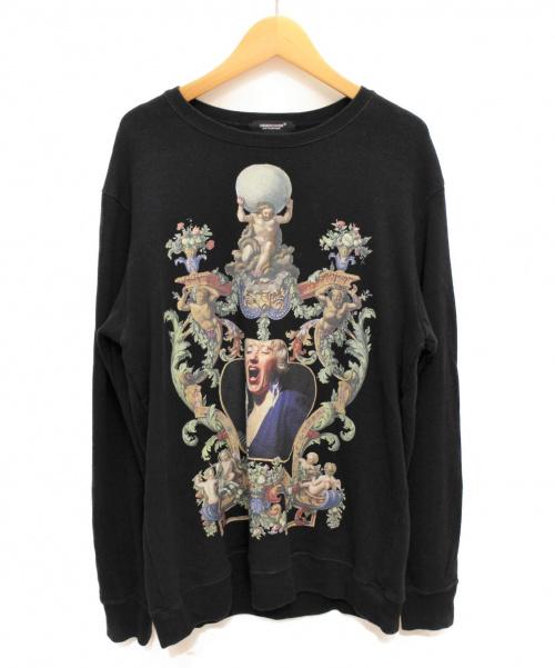 UNDERCOVER(アンダーカバー)UNDERCOVER (アンダーカバー) プリントスウェットシャツ ブラック サイズ:Sの古着・服飾アイテム