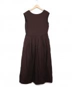 MAISON DE REEFUR(メゾン ド リーファー)の古着「Sleeveless Gathered Dress」|ブラウン