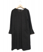 UNTITLED(アンタイトル)の古着「カラーネップセミAラインワンピース」|ブラック