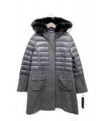 RES RALIQUE(レ・ラリック)の古着「ダウン切替ウールコート」|グレー×ブラック