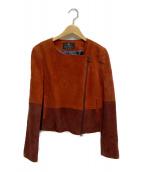 LANVIN COLLECTION(ランバンコレクション)の古着「ゴートレザージャケット」|レッド