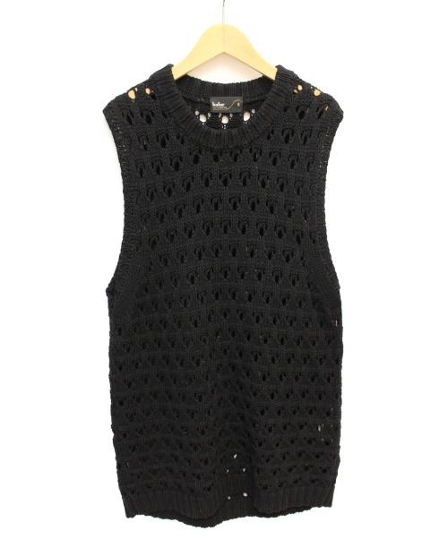 Kolor(カラー)Kolor (カラー) ニットベスト ブラック サイズ:5の古着・服飾アイテム