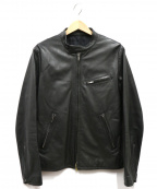 LITHIUM HOMME(リチウムオム・ファム)の古着「LEATHER SINGLE RID」|ブラック