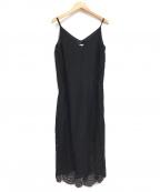 DOUBLE STANDARD CLOTHING(ダブルスタンダードクロージング)の古着「マスキングレースノースリワンピース」 ブラック