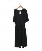 DOUBLE STANDARD CLOTHING(ダブルスタンダードクロージング)の古着「ドルマンスリーブワンピース」 ブラック