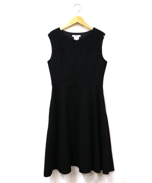 Rene(ルネ)Rene (ルネ) ウールノースリーブワンピース ブラック サイズ:38 日本製 百貨店取扱いの古着・服飾アイテム