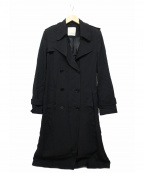 PINKO(ピンコ)の古着「サイドライントレンチコート」|ブラック