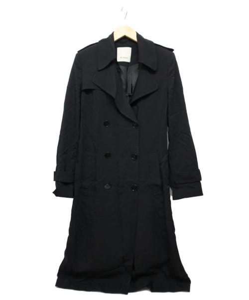 PINKO(ピンコ)PINKO (ピンコ) サイドライントレンチコート ブラック サイズ:Sの古着・服飾アイテム