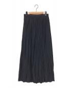 AP STUDIO(エーピーストゥディオ)の古着「サテンギャザースカート」|ブラック