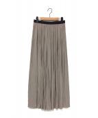 AP STUDIO(エーピーストゥディオ)の古着「サテンギャザースカート」|ベージュ