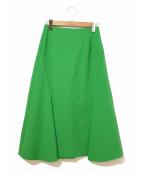 ENFOLD(エンフォルド)の古着「サイドデザインスカート」|グリーン