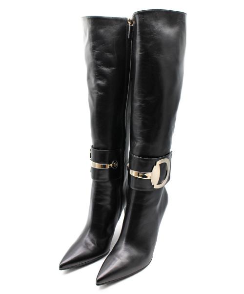 GUCCI(グッチ)GUCCI (グッチ) ロングブーツ ブラック サイズ:36.5 388363の古着・服飾アイテム