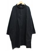 Y's(ワイズ)の古着「バンドカラーロングシャツ」|ブラック