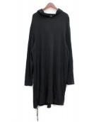 Yohji Yamamoto pour homme(ヨウジヤマモトプールオム)の古着「19SS リネン混ロングパーカー」|ブラック