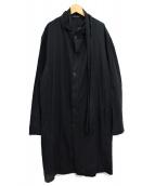 YohjiYamamoto pour homme(ヨウジヤマモトプールオム)の古着「ストールロングシャツ」|ブラック