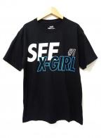 X-GIRL(エックスガール)の古着「Tシャツ」|ブラック