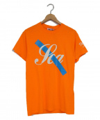 WIND AND SEA×SATURDAYS SURF NYC()の古着「Tシャツ」 オレンジ