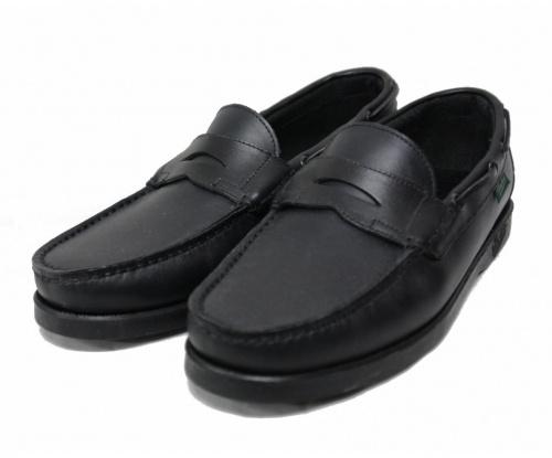 PARABOOT(パラブーツ)PARABOOT (パラブーツ) デッキシューズ ブラック サイズ:6 BEAMS別注 CORSICAの古着・服飾アイテム