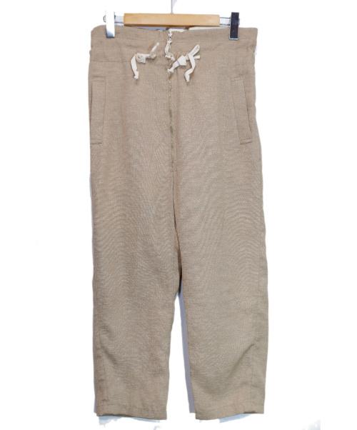 YSTRDYS TMRRW(イエスタディズトゥモロー)YSTRDYS TMRRW (イエスタディズトゥモロー) HOPSACK PHAT EASY PANTS ベージュ サイズ:Small 20SSの古着・服飾アイテム