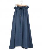 RIM.ARK()の古着「ギャザーマキシスカート」|ブルー