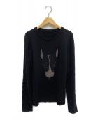 lucien pellat-finet(ルシアンペラフィネ)の古着「カシミヤニット」 ブラック