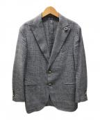 LARDINI(ラルディーニ)の古着「2Bチェックジャケット」 グレー
