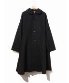 COMME des GARCONS COMME des GARCONS(コムデギャルソンコムデギャルソン)の古着「丸襟カシミヤ混フレアコート」|ブラック