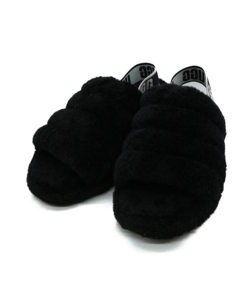 UGG(アグ)UGG (アグ) ムートンサンダル ブラック サイズ:SIZE 24cmの古着・服飾アイテム