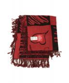 V.W. RED LABEL(ヴィヴィアンウエストウッドレッドレーベル)の古着「大判ストール」|レッド