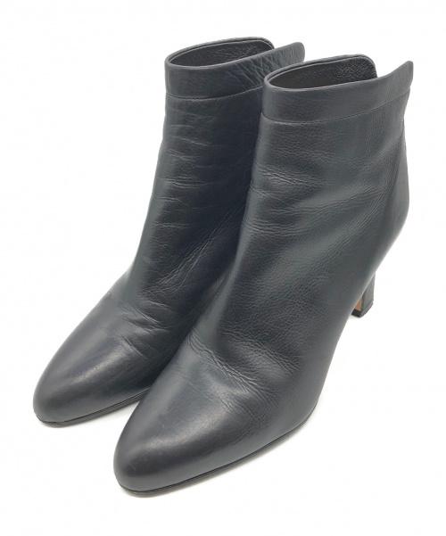 PELLICO(ペリーコ)PELLICO (ペリーコ) タキシー レザーアーモンドトゥ ブーティ ブラック サイズ:37の古着・服飾アイテム
