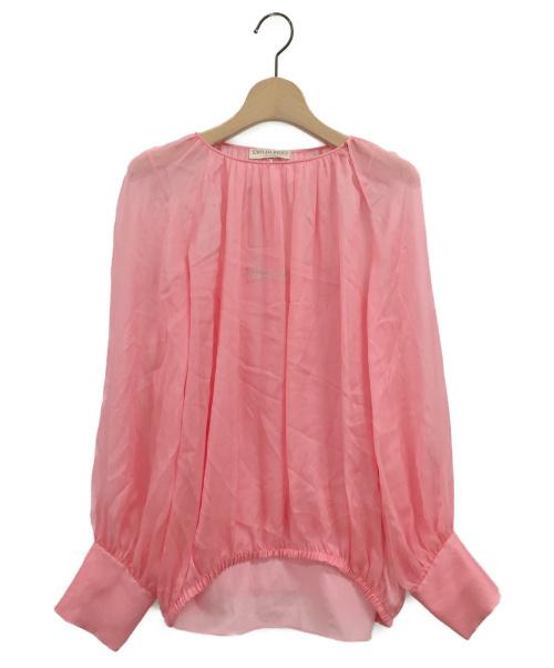 Emilio Pucci(エミリオプッチ)Emilio Pucci (エミリオプッチ) シルクブラウス ピンク サイズ:34の古着・服飾アイテム