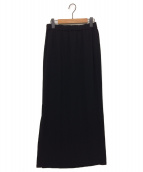 AP STUDIO(エーピーストゥディオ)の古着「ウエストゴムマキシスカート / ロングスカート」|ブラック