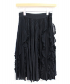 GIVENCHY(ジバンシィ)の古着「プリーツスカート」|ブラック