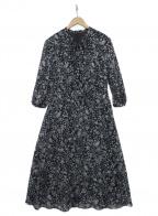 AMACA(アマカ)の古着「Crochet Meadouリボン付ドレス」 ブラック