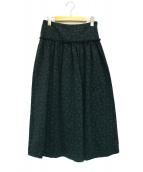 OPENING CEREMONY(オープニングセレモニー)の古着「ジャガードロングスカート」 グリーン