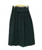 OPENING CEREMONY(オープニングセレモニー)の古着「ジャガードロングスカート」|グリーン