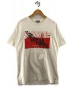 ()の古着「プリントTシャツ」 ホワイト×レッド